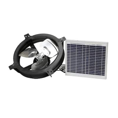 800 CFM Black Solar Powered Gable Mount Solar Attic Fan
