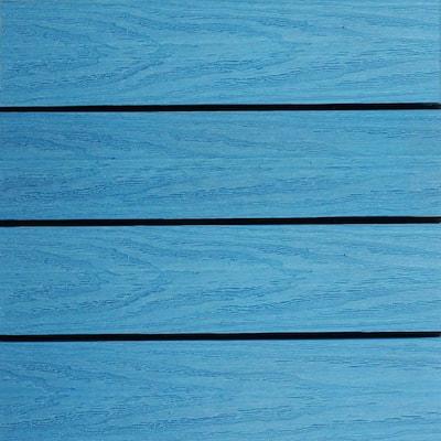 UltraShield Naturale 1 ft. x 1 ft. Quick Deck Outdoor Composite Deck Tile Sample in Caribbean Blue