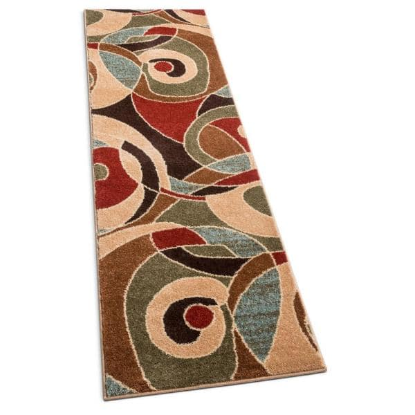 Well Woven Sydney Zen Abstract Mid Century Autumn 2 Ft X 7 Ft Modern Runner Rug 21392 The Home Depot