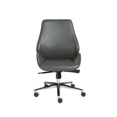 Bergen Gray Armless Low Back Office Chair