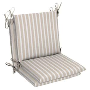 Belcourt 19 x 36 Sunbrella Shore Linen Mid Back Outdoor Dining Chair Cushion (2-Pack)