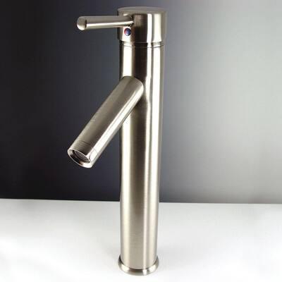 Soana Single Hole 1-Handle Vessel Bathroom Faucet in Brushed Nickel
