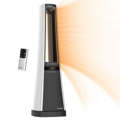 Bladeless 1500-Watt Electric Ceramic Oscillating Space Heater with Digital Display and Remote Control
