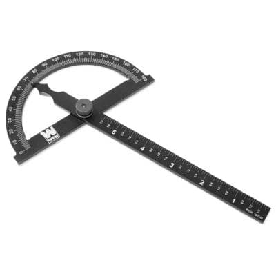 Adjustable Aluminum Protractor and Angle Gauge with Laser Etched Scale