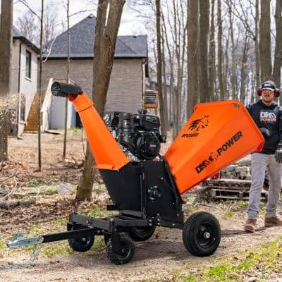 6 in. 14 HP Gas Powered Kohler Engine Kinetic Chipper Shredder with Electric Start and DOT Road Legal Tires