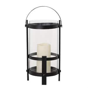Jersey Transitional Black Outdoor Battery Powered Lantern