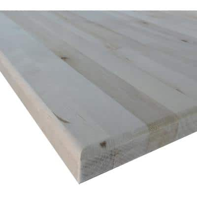 1-1/2 in. x 2 ft. x 5 ft. Allwood Birch Butcher Block Project Panel Table/Island Top with Routed Edges on Both Faces