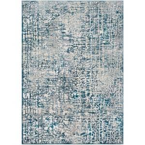 Reyna Blue 2 ft. x 3 ft. Abstract Area Rug