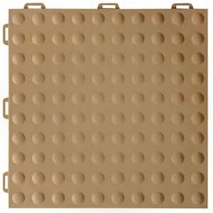 StayLock Bump Top Brown 12 in. x 12 in. x 0.56 in. PVC Plastic Interlocking Gym Floor Tile (Case of 26)