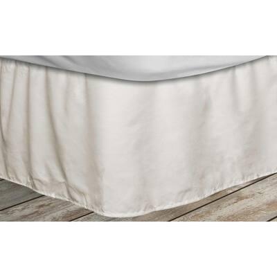 Frita 15 in. Beige Striped King Bed Skirt