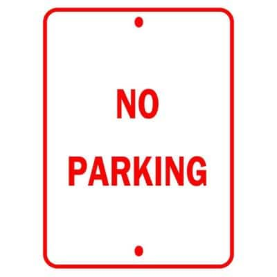 18 in. x 12 in. Aluminum No Parking Traffic Sign