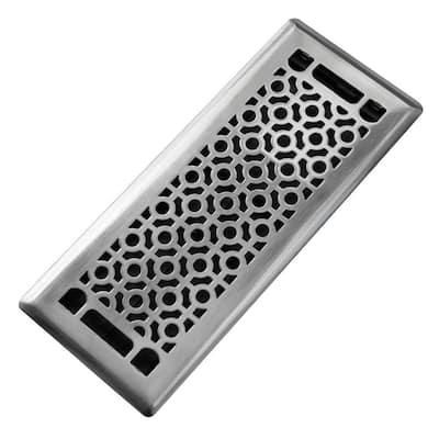 Cosmo 4 in. x 12 in. Steel Beveled Edge Floor Register