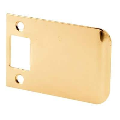 Extended Lip Strike, 3 in., Solid Brass Construction, Polished Finish
