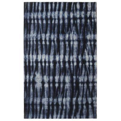 Resist Contemporary Modern Navy 7 ft. 6 in. x 9 ft. 6 in. Area Rug