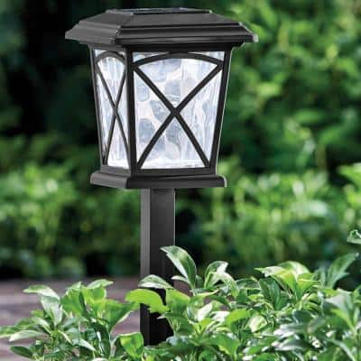 Solar Matte Gunmetal LED Path Light