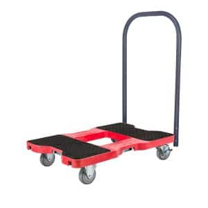 1500 lbs. Capacity Industrial Strength Professional E-Track Push Cart Dolly in Red