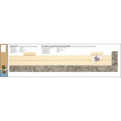 4-1/2 in. x 25-1/4 in. Laminate Endcap Kit in Tuscan Romano with Eased Edge