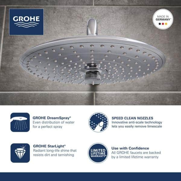 Grohe Vitalio Start 27953000 shower head hand operation 3 Nozzles