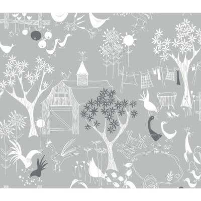 Rise and Shine Gray Vinyl Peelable Roll (Covers 30.75 sq. ft.)