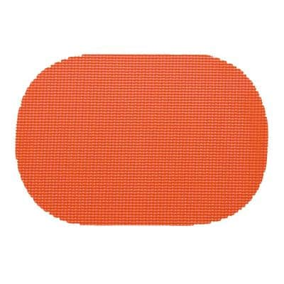 Peach Echo Fishnet Oval Placemat (Set of 12)