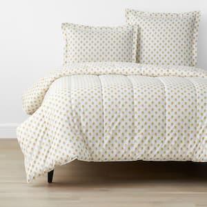 Company Organic Cotton Mini Prints Flowers Multi-Colored Full Cotton Percale Comforter