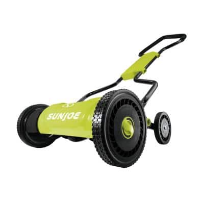 18 in. 5-Position Quad Manual Walk-Behind Push Reel Mower