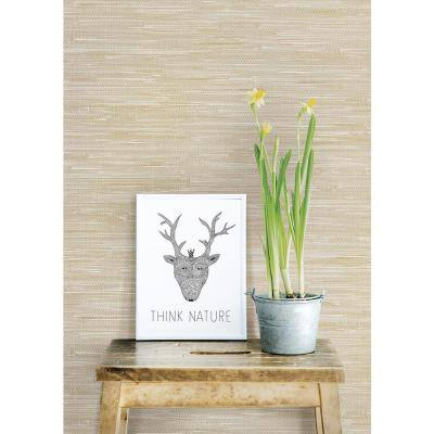 Beige Grey Faux Grasscloth Grey Wallpaper Sample