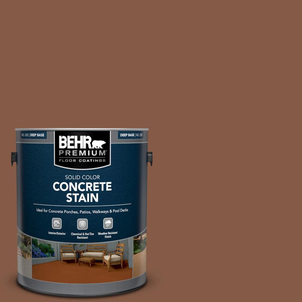 BEHR PREMIUM 1 gal. #PFC-20 Coronado Solid Color Flat Interior/Exterior Concrete Stain