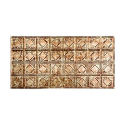 Traditional #4 2 ft. x 4 ft. Glue Up Vinyl Ceiling Tile in Bermuda Bronze (40 sq. ft.)