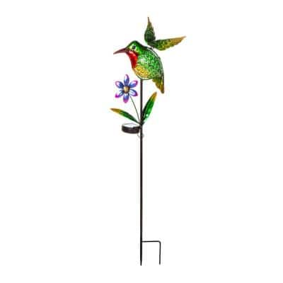 Hummingbird 36 in. Solar Garden Stake