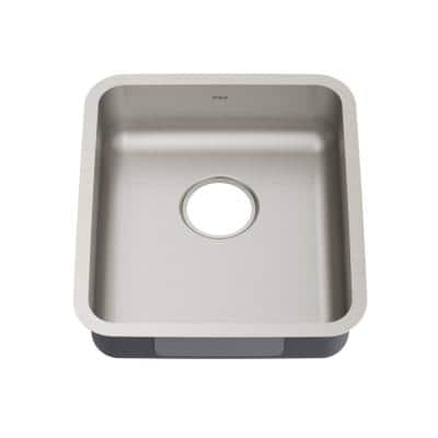 Dex Antibacterial 16-Gauge Stainless Steel 18.75 in. Single Bowl Undermount ADA Kitchen Sink