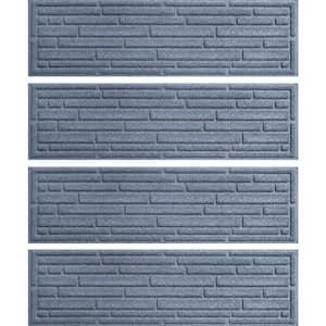 Broken Brick 8.5 in. x 30 in. Stair Treads (Set of 4) Bluestone