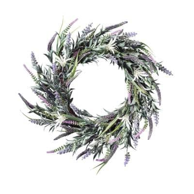 Lavender 24 in. Artificial Wreath