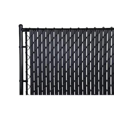 M-D 6 ft. Privacy Fence Slat Black