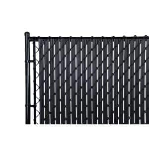 M-D 8 ft. Privacy Fence Slat Black