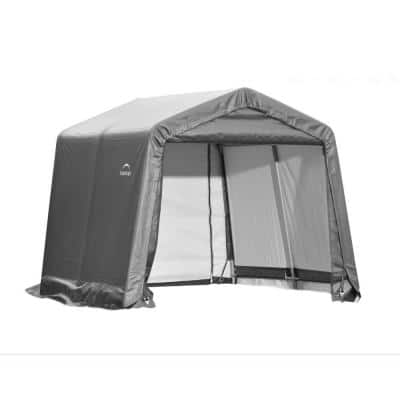 10 ft. W x 12 ft. D x 8 ft. H Grey Steel and Polyethylene Garage Without Floor w/ Corrosion-Resistant Steel Frame