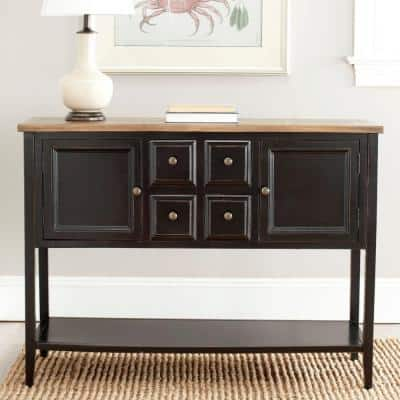 Charlotte Black and Oak Buffet with Storage