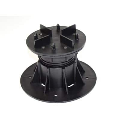 DTG-S4 (110 mm-160 mm) 4.33 in. x 6.30 in. Deck Tile Compatible Adjustable Pedestal Supports (8-Pack)