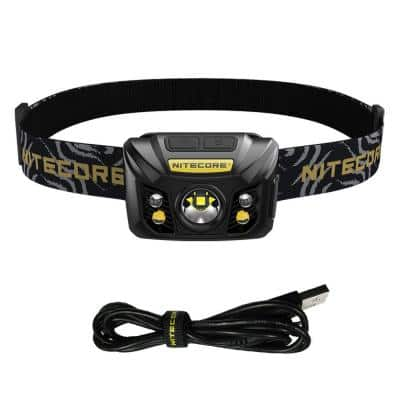 550 Lumens Rechargeable USB LED Headlamp with Red Light and Reading Light