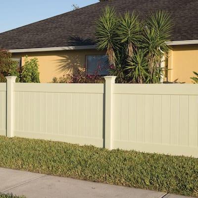 Linden 4 ft. H x 8 ft. W Sand Vinyl Privacy Fence Panel Kit