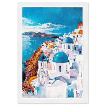 Beautiful Day in Greece' Framed Travel Art Print 19 in. x 13 in.