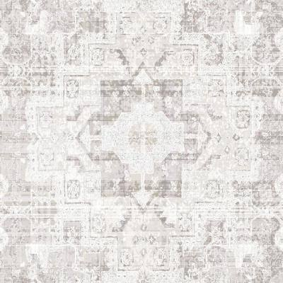 Desmond Beige Distressed Medallion Paper Strippable Wallpaper (Covers 56.4 sq. ft.)