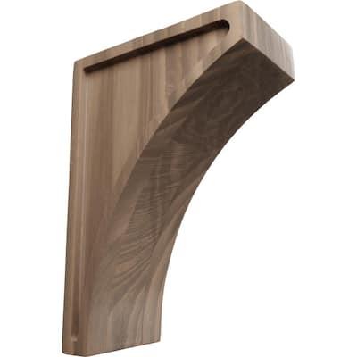 3 in. x 8 in. x 5-1/2 in. Walnut Medium Lawson Wood Corbel