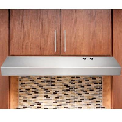 30 in. Under Cabinet Convertible Range Hood in Stainless Steel