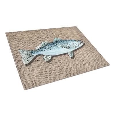 Fish Speckled Trout Tempered Glass Large Cutting Board