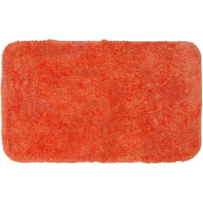 Royal Tangerine 24 in. x 40 in. Nylon Machine Washable Bath Mat