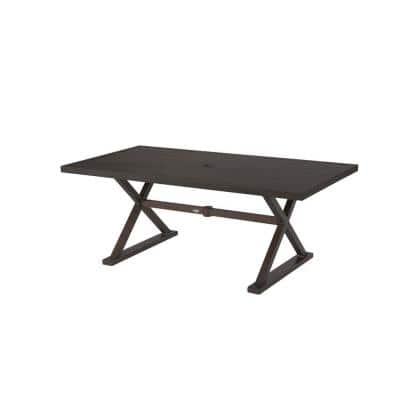 Woodbury Metal Rectangular Outdoor Patio Dining Table