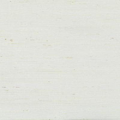 White Grass Cloth Non-Pasted Wallpaper Roll (Covers 72 Sq. Ft.)