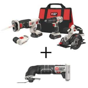 20-Volt MAX Lithium-Ion Cordless Combo Kit (4-Tool) with BONUS 20-Volt MAX Cordless Oscillating Tool (Tool-Only)