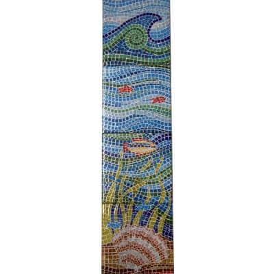 Under the Sea 8 in. x 32 in. Ceramic Mural Extension Wall Tile (1.8 sq. ft. / case)